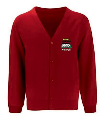 Holwell Primary Red Cardigan
